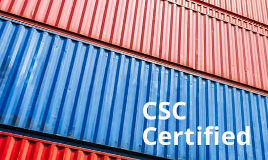 CSC certified containers for shipping